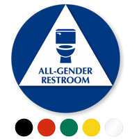 California All-Gender Sintra Restroom Door Sign