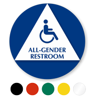 California All-Gender Restroom, Toilet ISA Symbol Sign