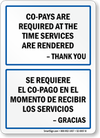 Bilingual Co-Pays Are Required At Time Services Sign