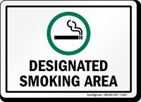DESIGNATED SMOKING AREA Sign