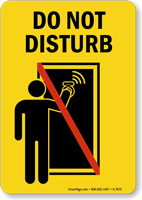 Do Not Disturb Sign with Graphic