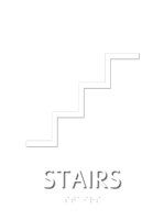 Stairs, with Graphic and Braille