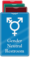 Gender Neutral Symbol Restroom ShowCase Sign
