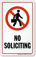 No Soliciting Window Decal