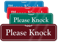 Please Knock ShowCase™ Wall Sign