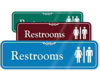 Restroom Man Woman Symbol Sign