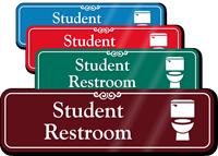 Student Restroom Toilet Symbol Sign