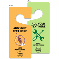 Custom Text And Logo Door Hang Tag
