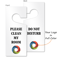 Custom Do Not Disturb Logo Door Hang Tag