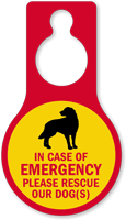 Please Rescue Our Dogs Door Hang Tag