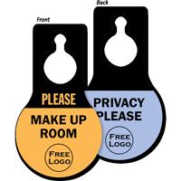 Custom Privacy Pear Shaped Door Hang Tag