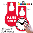 Will Be Back Clock Door Hanger