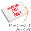 Emergency Exit Only LED Exit Sign with Battery Backup