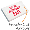 Not An Emergency LED Exit Sign with Battery Backup