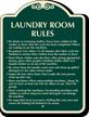 Custom Laundry Room Rules Signature Sign