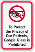 Google Glass Is Prohibited Sign