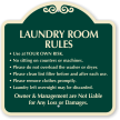 Laundry Room Rules Designer Sign