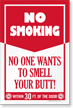 No Smoking Within 30 Feet Sign Panel
