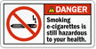 Smoking E-Cigarettes Hazardous To Health Label