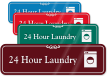 24 Hour Laundry ShowCase Wall Sign
