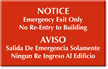 Bilingual No Re-Entry Engraved Room Sign