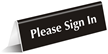 Please Sign In Tent Sign