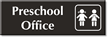 Preschool Office Sign With Boy And Girl Symbol