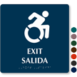 Bilingual Exit Braille Sign, Updated Accessible Pictogram