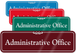 Administrative Office ShowCase Wall Sign