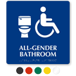Accessible All-Gender Bathroom Sintra Braille Sign