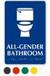 All-Gender Bathroom Sintra Restroom Sign With Braille