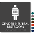 Gender Neutral Restroom Braille Sign