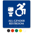 All-Gender Restroom Sign, Updated ISA, Toilet Bowl