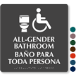 All Gender Bathroom ISA And Toilet Symbol Sign
