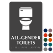 All-Gender Toilets TactileTouch Restroom Sign with Braille