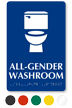 All-Gender Washroom Sintra Sign With Braille