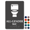 All-Gender WC TactileTouch Restroom Sign with Braille