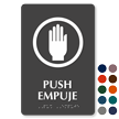 Bilingual Push Empuje TactileTouch Braille Sign
