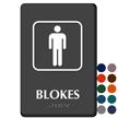 Blokes TactileTouch Braille Australian Humorous Restroom Sign