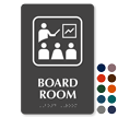 Board Room Symbol TactileTouch™ Sign with Braille