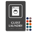 Guest Laundry Symbol TactileTouch™ Sign with Braille