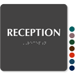 Reception ADA TactileTouch™ Sign with Braille