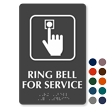 Ring Bell For Service Symbol TactileTouch™ Braille Sign