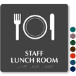 Staff Lunch Room Symbol TactileTouch™ Sign with Braille