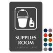 TactileTouch™ Supplies Room Sign with Braille