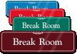 Break Room Sign
