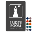 Brides Room Symbol ADA TactileTouch™ Sign with Braille