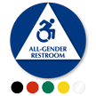 All-Gender Restroom Sign with New Accessibility Symbol