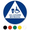 California All-Gender Restroom Sign with Handicap Symbol