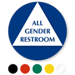 California All Gender Sintra Restroom Door Sign